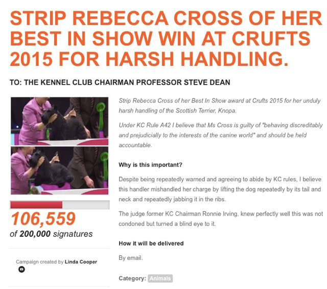 Strip_Rebecca_Cross_of_her_Best_In_Show_win_at_Crufts_2015_for_harsh_handling____Campaigns_by_You