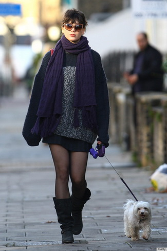 Daisy Lowe Sighting In London - November 25, 2011