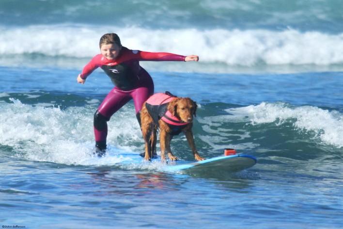 Σκύλος διδάσκει παιδιά με ειδικές ανάγκες να κάνουν σέρφινγκ (6)